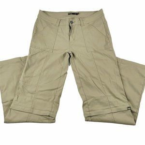 Prana Monarch Convertible Zip Off Pants Khaki